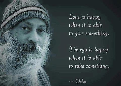 Love is happy when it is able to give something
